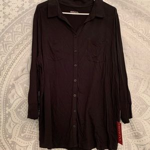 Black Marina Button Up